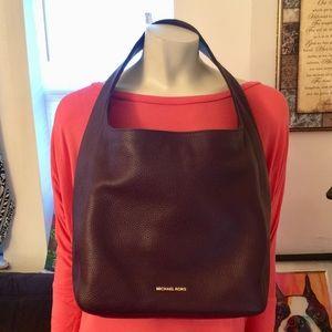 Michael Kors Large Lena  Leather Hobo Bag Damson